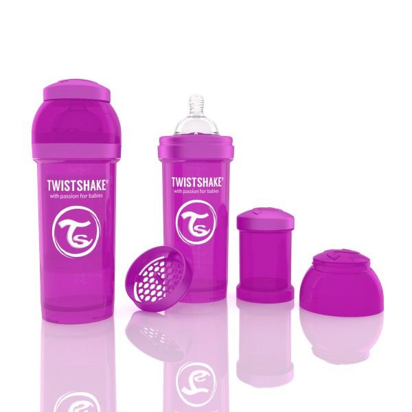 TWISTSHAKE 260 ml lila Anti-Kolik Flasche