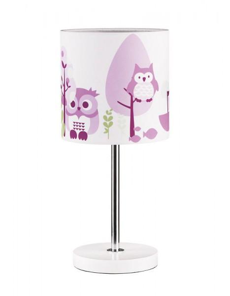 Nachttischlampe Eulen-Design in 3 Farben