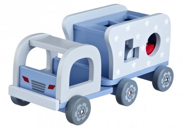 Steckspiel Lastwagen Holz in 2 Farben