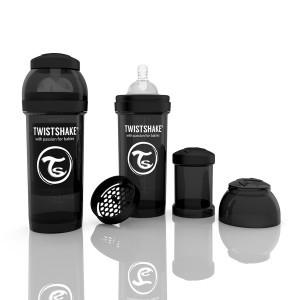 TWISTSHAKE 260 ml schwarz Anti-Kolik Flasche