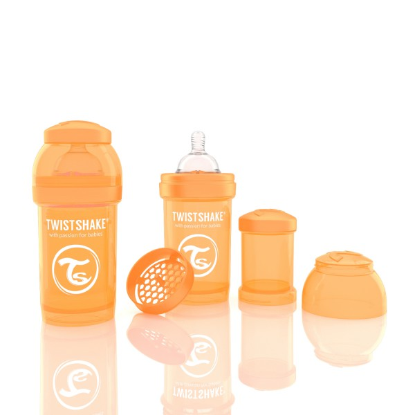 TWISTSHAKE 180 ml orange Anti-Kolik Flasche