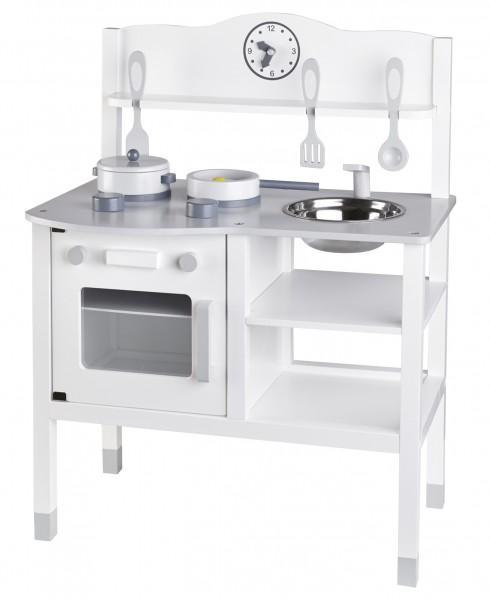 Detailgetreue Spielküche/Kinderküche weiß/grau