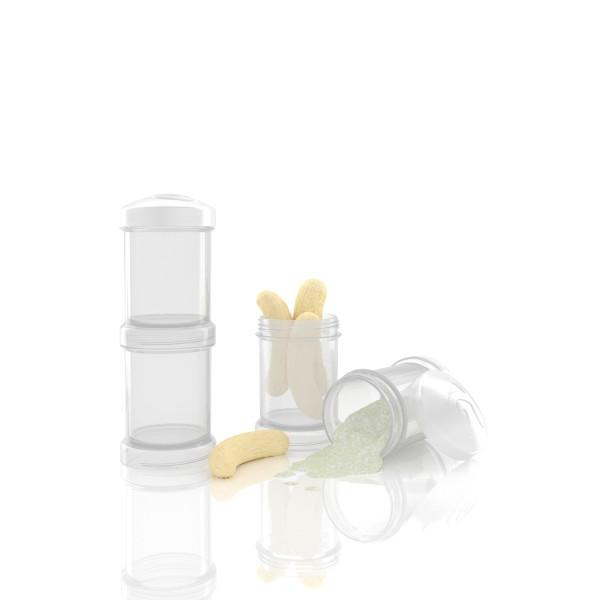 2er Pack Milchpulverbehälter weiß 2x100 ml