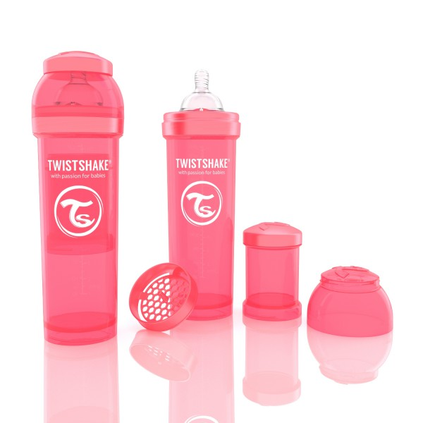 TWISTSHAKE 330 ml peach Anti-Kolik Flasche