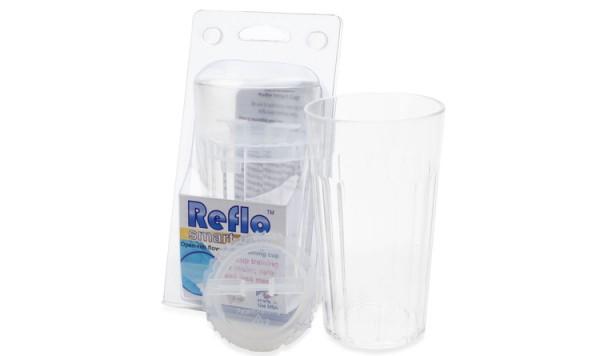 REFLO Trinklernbecher mit Auslaufkontrolle klar