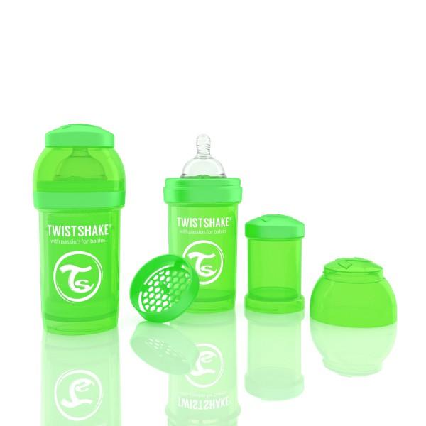 TWISTSHAKE 180 ml grün Anti-Kolik Flasche