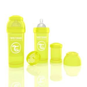 TWISTSHAKE 260 ml gelb Anti-Kolik Flasche