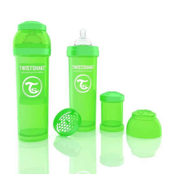 TWISTSHAKE 330 ml grün Anti-Kolik Flasche
