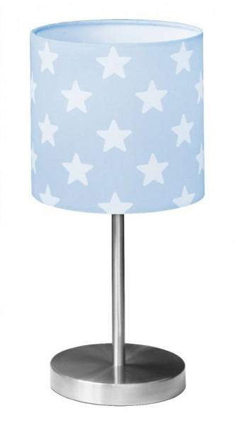 Nachttischlampe mit weißen Sternen in 2 Farben