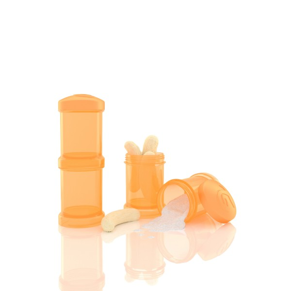 2er Pack Milchpulverbehälter orange 2x100 ml