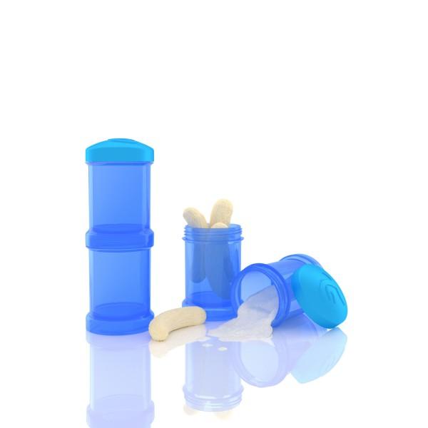 2er Pack Milchpulverbehälter blau 2x100 ml