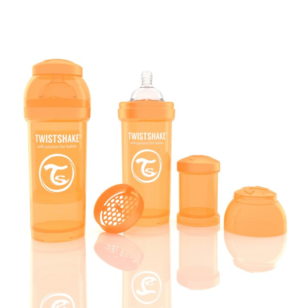 TWISTSHAKE 260 ml orange Anti-Kolik Flasche