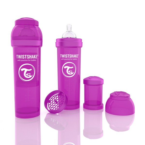TWISTSHAKE 330 ml lila Anti-Kolik Flasche