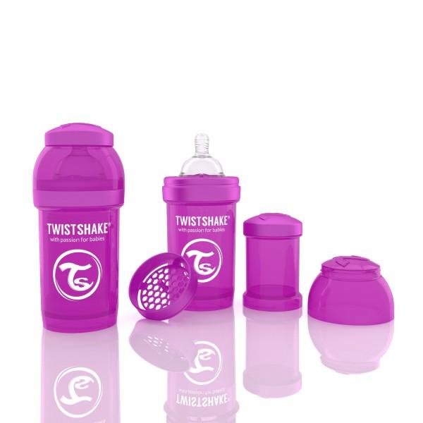 TWISTSHAKE 180 ml lila Anti-Kolik Flasche