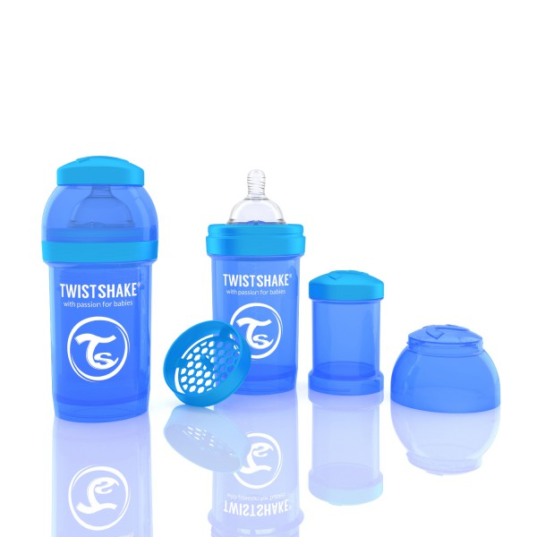 TWISTSHAKE 180 ml blau Anti-Kolik Flasche