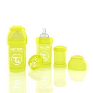 TWISTSHAKE 180 ml gelb Anti-Kolik Flasche