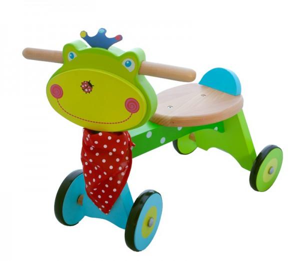 Lauflern 4-Rad Frosch aus Holz