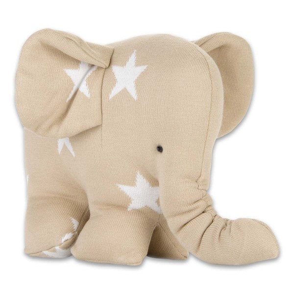 Kuschelstrick-Elefant mit Sternen in 8 Farben