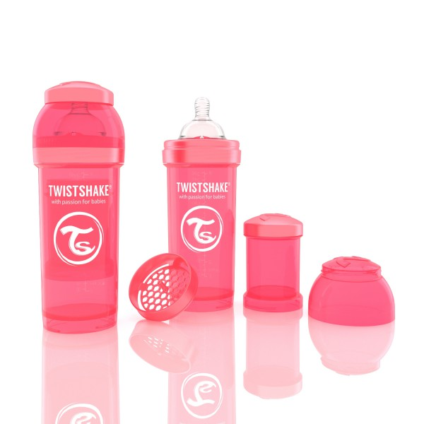 TWISTSHAKE 260 ml peach Anti-Kolik Flasche